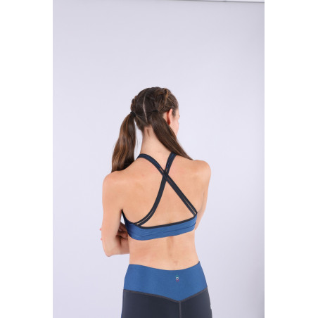 Bio D.I.W.O® Yoga Top - Made in Italy - B107B - Blu Vienna