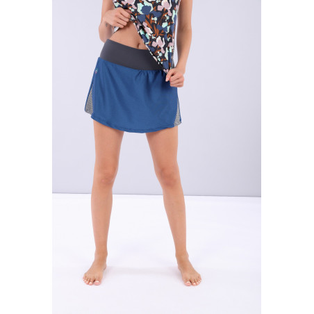 Yoga Skirt - Made in Italy - B107B - Blu Vienna