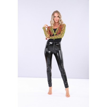 WR.UP® Ecoleather - High Waist Skinny - Crocodile-effect - N0 - Black