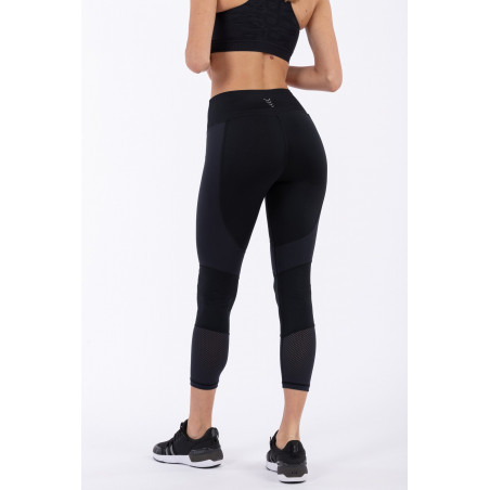 D.I.W.O® Superfit High Waist Leggins - 7/8 Length - Mesh Details - N - Black