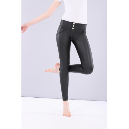 WR.UP® Ecoleather - Mid Waist Skinny - N0 - Black
