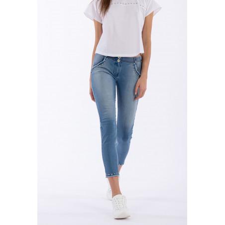 WR.UP® Denim Effect - Regular Waist Skinny - 7/8 Length - True Denim Front - J4B - Light Blue Denim