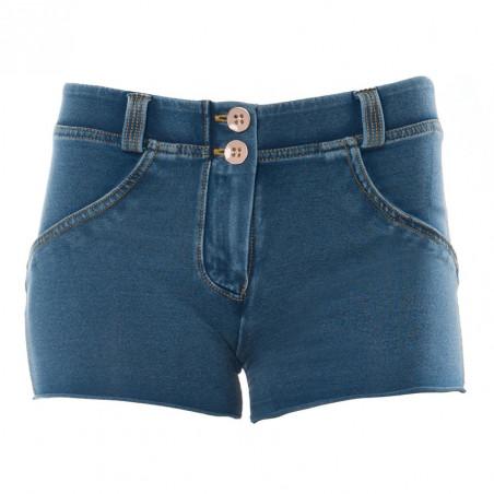 WR.UP® Denim Effect - Regular Waist Shorts - J4Y - Clear Denim - Yellow Seam