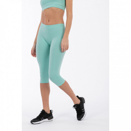 Stretch Corsair-Length Leggings With a Freddy Print - D52 - Holiday Green