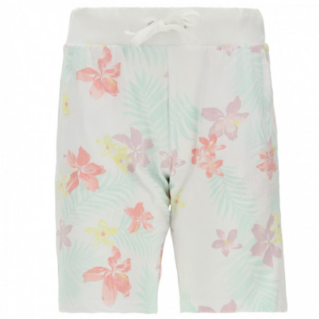 Floral Print Bermuda Shorts With Besom Pockets - FLO6 - Flower Multicolor