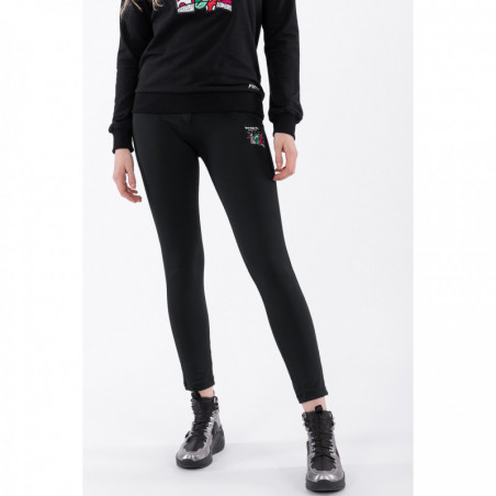 WR.UP® Regular Waist Skinny - 7/8 Length - Romero Britto Collection - Winged Heart Patch - N - Black