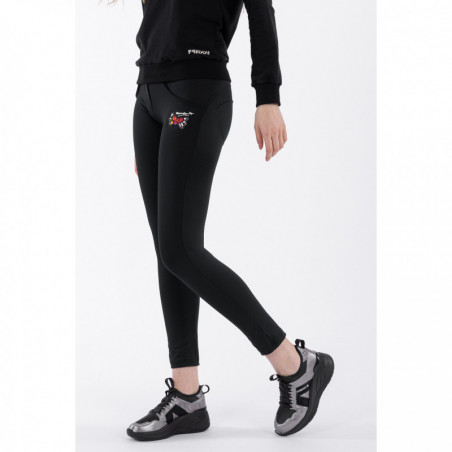 WR.UP® Regular Waist Skinny - 7/8 Length - Romero Britto Collection - Love Patch - N - Black