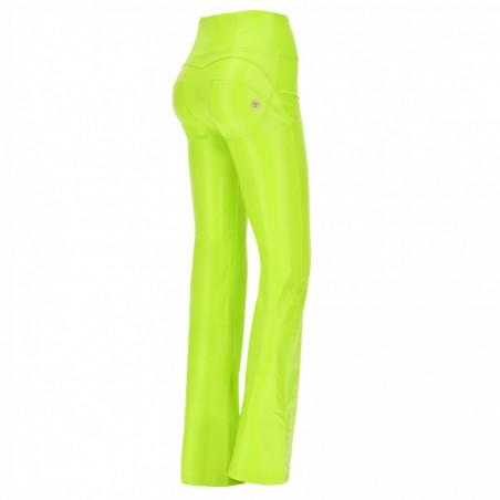 WR.UP® Ecoleather - High Waist Skinny - Crocodile-effect - D84 - Acid Lime