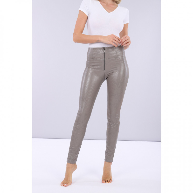 WR.UP® HIGH WAIST SKINNY - ECOLEATHER