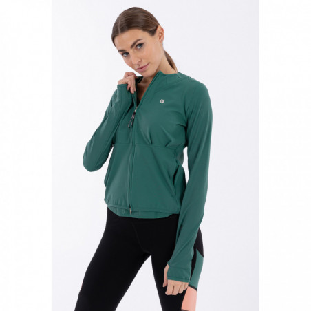 Bio D.I.W.O® Performance Yoga Sweatshirt - Made In Italy - V37 - Smoke Pine