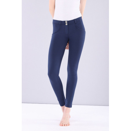 WR.UP® Regular Waist Skinny - Made in Italy - Shiny Inner - B63 - Mood Indigo