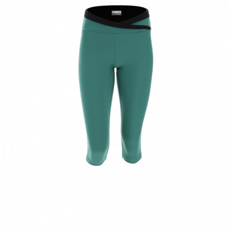 Superfit Yoga Leggins - Corsair-Length - Made In Italy - V37N - Smoke Pine & Black