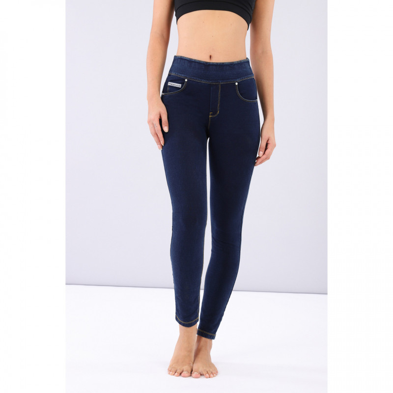 WR.UP ECOLEATHER - REGULAR WAIST SUPER SKINNY - N0 - BLACK