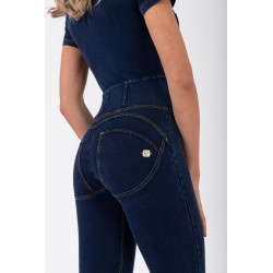 WR.UP® DENIM EFFECT - REGULAR WAIST FLARE - J0B - DARK DENIM - BLUE SEAM