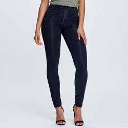 WR.UP® BRUSHED D.I.W.O® - REGULAR WAIST SKINNY - N0 - BLACK