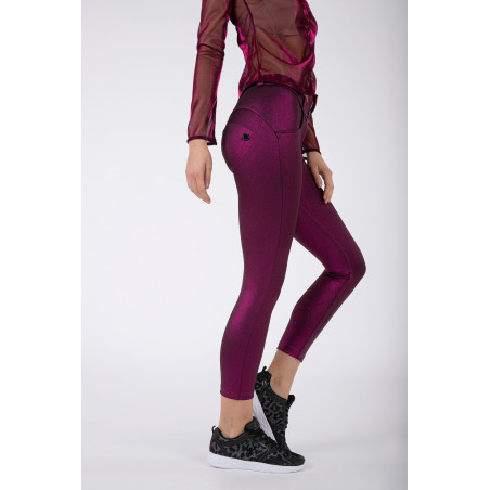 WR.UP® Regular Waist Skinny - Metallic Jersey - F97 - Fuchsia Metalized