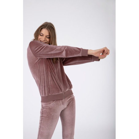 WR.UP® Tracksuit - Soft Chenille With Glitter Bands - P108 - Light Pink