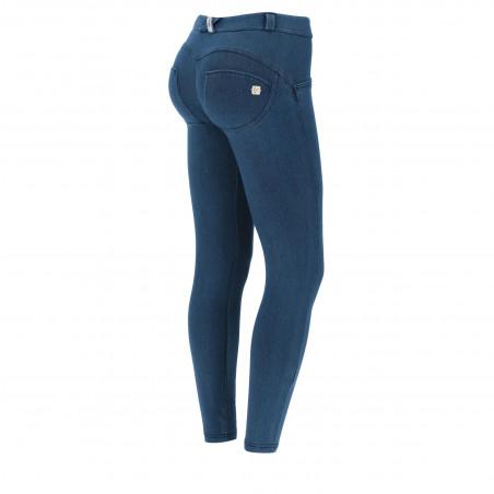 WR.UP® Denim Effect Jeggins - Regular Waist Skinny - Made In Italy - J0B - Blue Denim