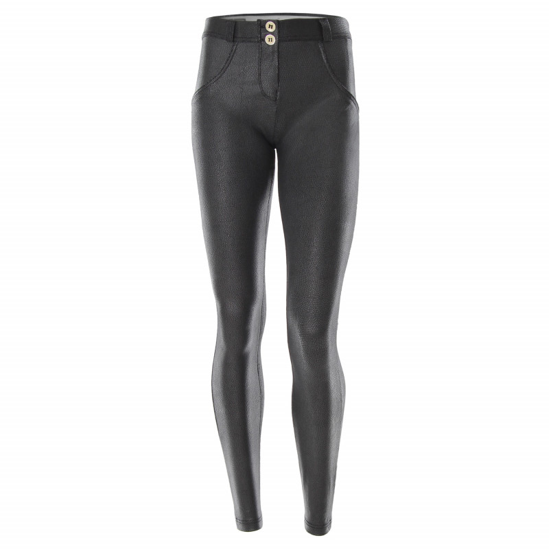 WR.UP® DENIM EFFECT - REGULAR WAIST SKINNY - 7/8 LENGHT - PEARLS AND RIPS - J0Y