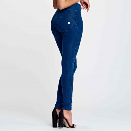 WR.UP® Denim Effect - High Waist Skinny - J0B - Dark Denim - Blue Seam