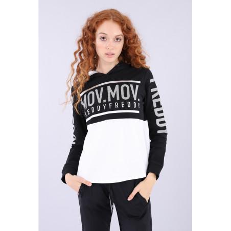 Freddy Mov.Mov Hoodie - NW - Black & White