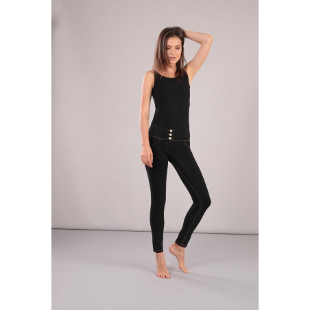 WR.UP® Ecoleather - Low Waist Skinny - N0 - Black