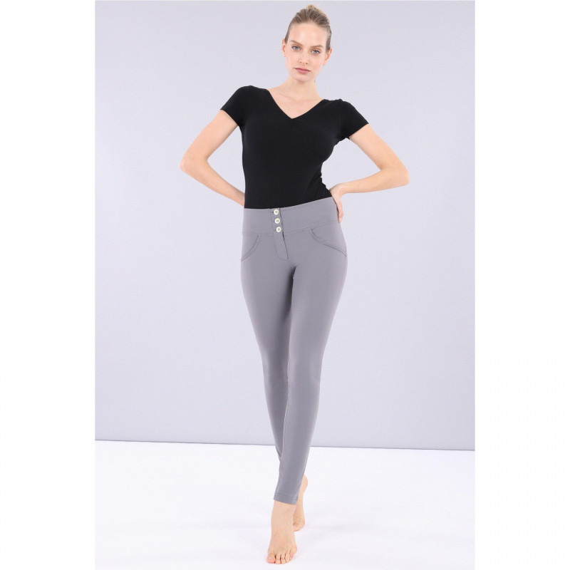 SUPERFIT LEGGINS D.I.W.O® - 7/8 LENGTH - REGULAR WAIST SKINNY - N26Q - MELANGE BLACK