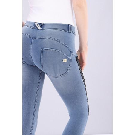 WR.UP® Denim Effect - Regular Waist Skinny - 7/8 Lenght - Contrast Striping - J4N