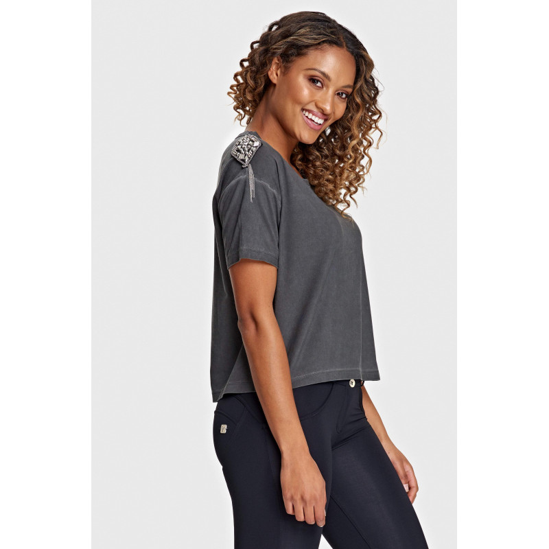 WR.UP® PERFORMANCE FABRIC WITH BANDS - REGULAR WAIST SKINNY - 7/8 LENGHT - N - BLACK