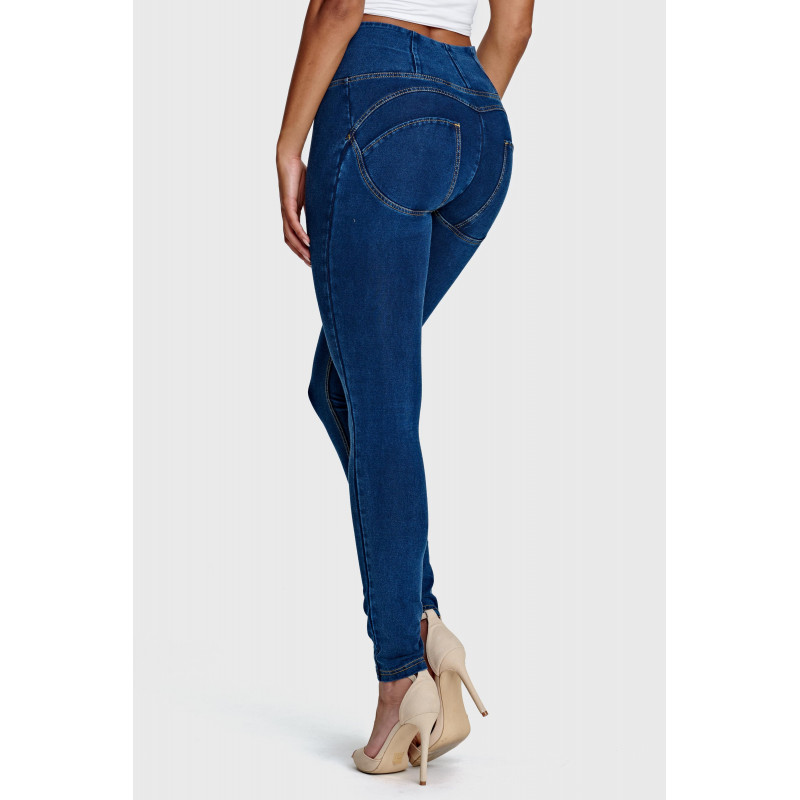 WR.UP® HIGH WAIST SKINNY Denim effect - J0B - Dark Denim-Blue Seam
