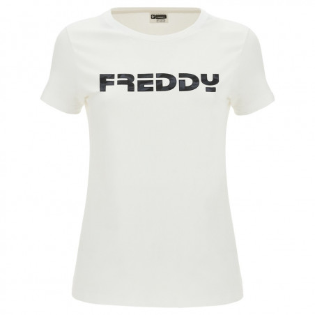 Short Sleeved T-Shirt - Freddy Logo - White