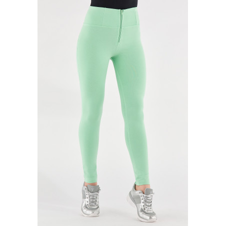 WR.UP® High Waist Skinny - Heavyweight Stretch Jersey - D50 - Green Ash