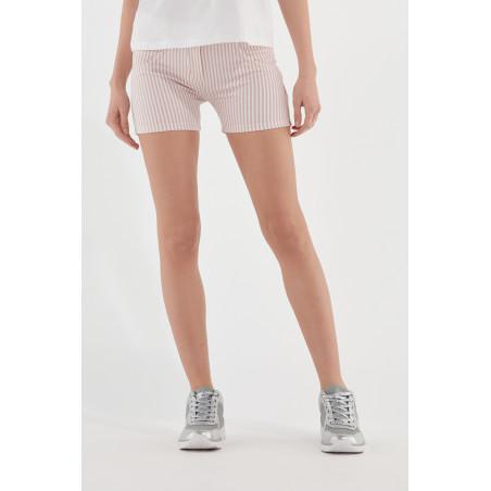 WR.UP® Shorts - Regular Waist Skinny - Striped - P34W - Rose Cloud & White Stripes