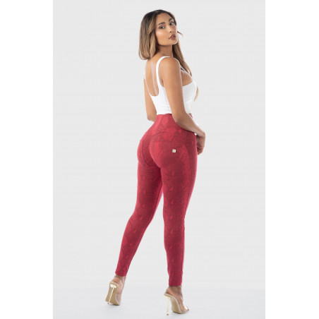 WR.UP® High Waist Skinny - Snake Print - R111G - Reptile Red