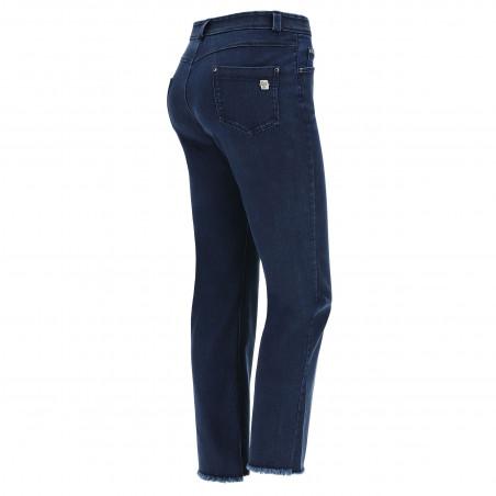 Freddy Black - Straight Jeans in Stretch Denim - J0B - Dark Denim - Blue Seam