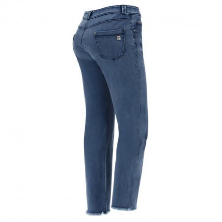 Freddy Black - Straight Jeans in Stretch Denim - J4B - Clear Denim - Blue Seam