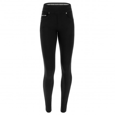 N.O.W® Pants - Mid Waist Skinny - Foldable Waist - N0 - Black