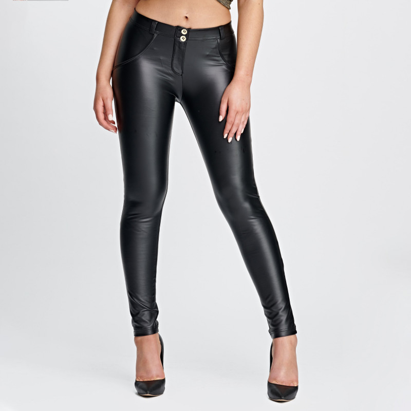 WR.UP® PERFORMANCE FABRIC - HIGH WAIST SKINNY - DOUBLE ZIP - V46 - SEA SPRAY