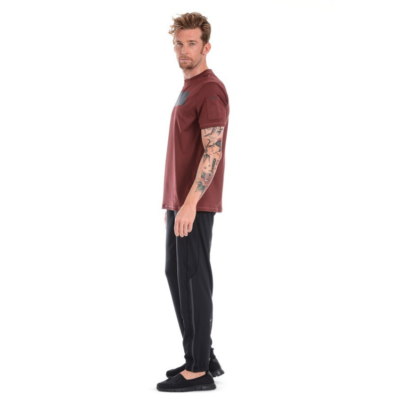 WR.UP® HIGH WAIST SKINNY - ECOLEATHER - R680 - DEEP CLARET RED