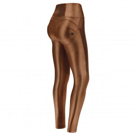 WR.UP® High Waist Skinny - Coated Performance Fabric - BRZ1 - Bronze Mirror Effect