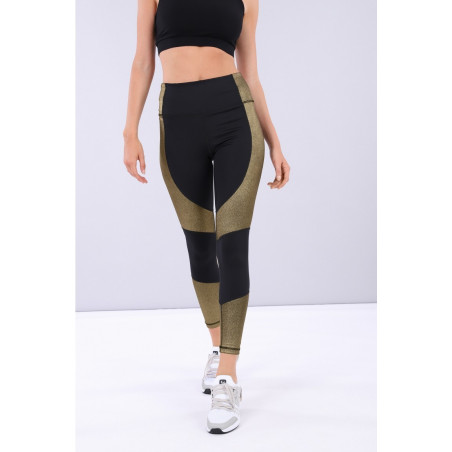 Superfit Leggins D.I.W.O® - High Waist Skinny - 7/8 Length - NNB2 - Gold Detailed Black