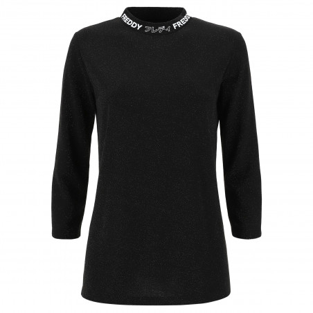 Long Sleeved T-Shirt - N - Shiny Black