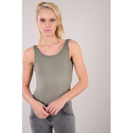 Bodysuit - Stretch - V57CD - Vetiver Cool Dyed