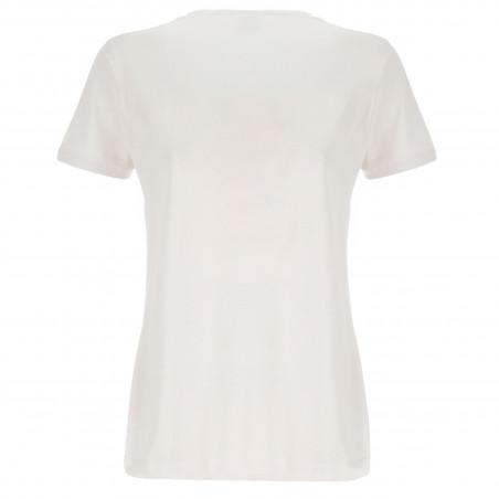 T-Shirt - Logo Print - W - White