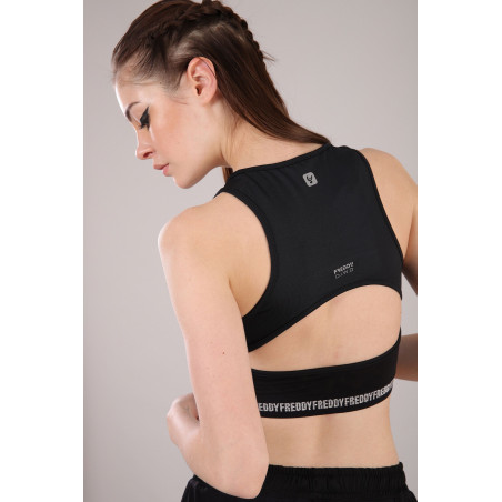 Tech Sport Top - Medium Support - N - Black