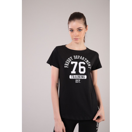 Fitness T-Shirt - Crew Neck - N - Black