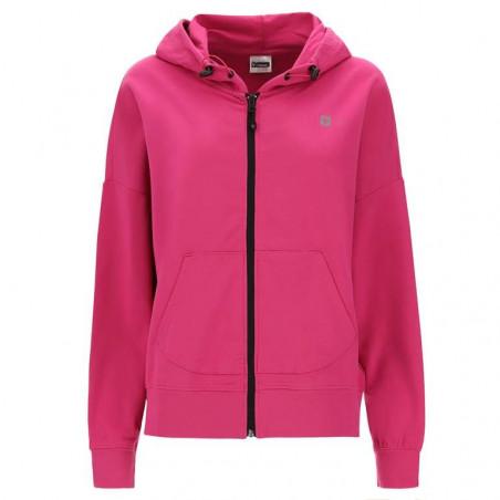 Short Sweatshirt - Hood & Zip - F90 - Fuchsia