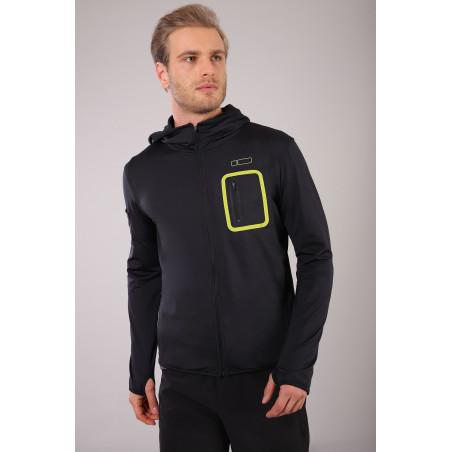 Zip Hoodie - Breathable Inserts - N0 - Black