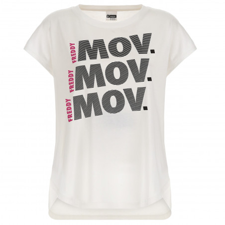 T-Shirt In Modal - W - White