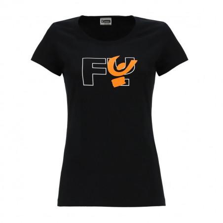 T-Shirt - Large Logo Print - N - Black